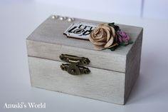 Porta alianzas caja de madera vintage - Anuski´s World