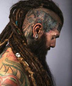 In Fashion Mens Clothes Scalp Tattoo, Beard Tattoo, Dreadlock Hairstyles, Cool Hairstyles, Tattoo Crane, Selena Gomez Short Hair, Hair And Beard Styles, Long Hair Styles, Viking Hair