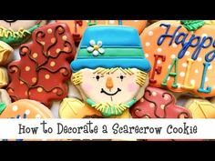 How to Decorate a Scarecrow Cookie - YouTube
