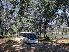 Microbus de viaje naturaleza