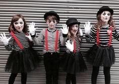 Mime Costume, Dress Up Costumes, Diy Costumes, Family Halloween Costumes, Christmas Costumes, Halloween Kostüm, Mime Marceau, Creative Costumes, Halloween Disfraces