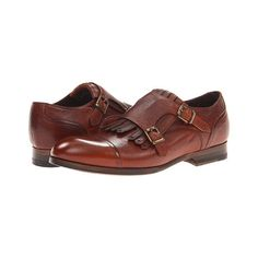Paul Smith Foster Only Brogue Dark Tan - 6pm.com ($180) found on Polyvore