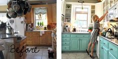 Inspires me to stop talking about painting my cabinets and actually do it!
