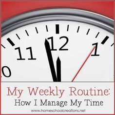 Weekly Routine from Homeschool Creations