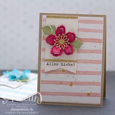 Stampin' Up! - Global Design Project - Geburtstagskarte - Framelits Pflanzen Potpourri - Botanical Builder - Rosenrot ❤︎ Stempelwiese