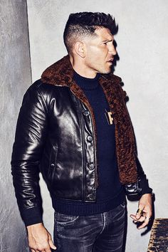 Jon Bernthal Tries On This Fall's Best New Designer Menswear Jon Bernthal, Latest Mens Wear, Latest Mens Fashion, What To Wear Today, How To Wear, Cool Bomber Jackets, Men's Jackets, Revival Clothing, Costume