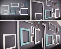 image detail for picture frames and repainted some of them gray and - Picture Frame Design Ideas