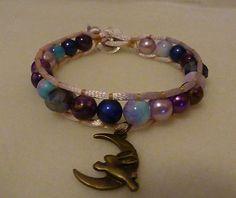 Bronze moon rabbit wrap bracelet £9.00