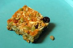 Breakfast Bars - Gluten Free Cereal Bar Recipe | Elanaspanty.com  These are super yummy. I added some flaxseed meal and subbed macadamia nuts for almonds and added diced dried apricots and I used coconut nectar instead of agave (lower glycemic index) plus a little stevia.  And orange extract instead of vanilla. MMMMM!!  Jana