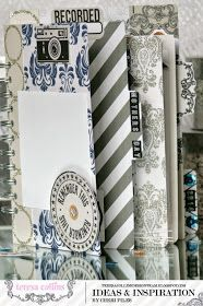 TERESA COLLINS DESIGN TEAM: Pre-made mini file folder album for Mothers Day by Cheri Piles using the new collection Urban Market