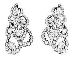 Archi Dior Milieu de Siècle Diamond Earrings
