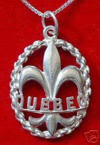 Canada Quebec Sterling silver 925 Fleur de lis charm Sterling Silver 925 Jewelry