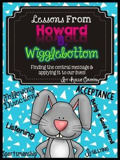 Hop back to school with Howard B. Wigglebottom and friends! This unit is perfect for teaching whole body listening, following directions, sportsmanship, teamwork, learning to work in groups, doing what you love, and bullying.   Howard B. Wigglebottom Learns to Listen  Howard B. Wigglebottom Learns about Sportsmanship Howard B. Wigglebottom Listens to His Heart Howard B. Wigglebottom Learns About Bullies
