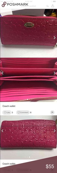 Coach wallet Beautiful pink coach wallet 8x4.5 great condition no stains Coach Bags Wallets