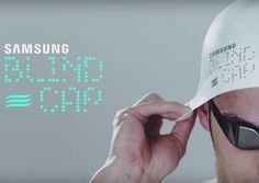 Blind Cap, a silicone swimming head cap with a vibrating component developed by Samsung