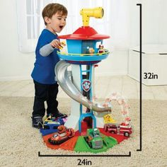 Nickelodeon Paw Patrol My Size Lookout Tower with Exclusive Vehicle Rotating Periscope and Lights and Sounds -- See this excellent product. (This is an affiliate link). Paw Patrol Tower, Paw Patrol Figures, Paw Patrol Party, Paw Patrol Birthday, Paw Patrol Lookout, Paw Patrol Bedding, 4th Birthday, Birthday Gifts, Imprimibles Paw Patrol
