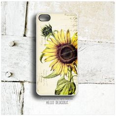 iPhone 5 Case Sunflower iPhone 5s Case Vintage by HelloDelicious, $19.00