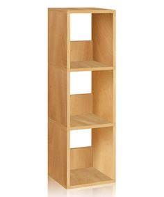 Another great find on #zulily! Natural Eco Three-Shelf Narrow Bookcase #zulilyfinds