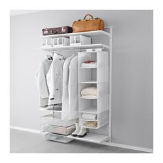 IKEA - ALGOT, Wall upright/shelves/rod, The parts in the ALGOT series can be combined in many different ways and easily adapted to your needs and space.You click the brackets into the ALGOT wall uprights wherever you want to have a shelf or accessory – no tools needed.Can also be used in bathrooms and other damp indoor areas.