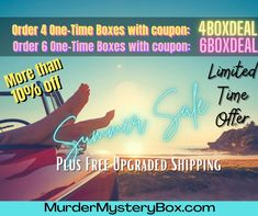Discount on our one-time Murder Mystery Boxes and free shipping. Put your investigative skills to the test. Use the journal and evidence to sovle the case. . . #mystery #murdermystery #mysterybox #investigate #adventure #summertime #summerfun #campingtrip #summer #detective #clue #evidence#solve #crime #cozymystery #journal #freeshipping #gift #giftideas #adventures #reading #books
