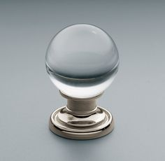 RH's Round Glass Knob:Our high-quality hardware is available in a range of distinctive designs.