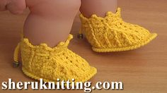 Crochet Baby Booties Patterns Tutorial 44 Part 1 of 2 Crochet Zapatitos Bebe paso paso  http://sheruknitting.com/sherufashion/crochet-and-knitting-clothes/item/764-crochet-booties-for-babies-tutorial-44-part-1-of-2.html In this tutorial I will be making this cute crochet baby booties.