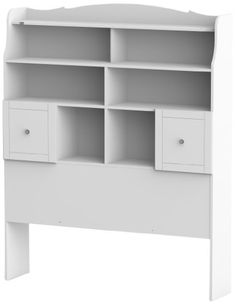 "This might be just the right one.  68"" x 54"" should be perfect dimensions and everything else is gravy.  Price is reasonable, whether from Amazon or Cymax.  Nexera 317303 Pixel Tall Bookcase Headboard, Full, White Nexera"