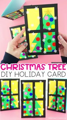 Surprise friends and family with this easy-to-make Christmas tree card. Our free card template makes this an easy Christmas card for kids to make. cards How to Make a Gorgeous Christmas Tree Card Christmas Arts And Crafts, How To Make Christmas Tree, Christmas Tree Cards, Xmas Crafts, Handmade Christmas, Christmas Card Templates, Christmas Card Ideas With Kids, 2nd Grade Christmas Crafts, Kids Holiday Crafts