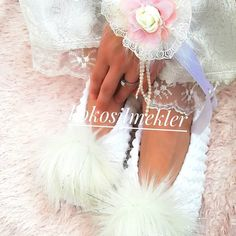 """""""Womens slippers,Big Size Beige Alpaca Furry Wool Slipper With Sole,Christmas For Slipper,Knitted and Crochet,Bride and Bridesmaids,felt"""""""