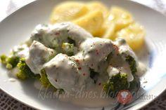 Brokolica s hubovo-nivovou omáčkou