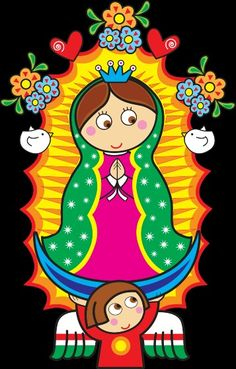 Distroller Virgencita Vector by on DeviantArt Arte Country, All Things Cute, Mexican Art, Mother Mary, First Communion, Kirchen, Folk Art, Canvas Art, Arts And Crafts