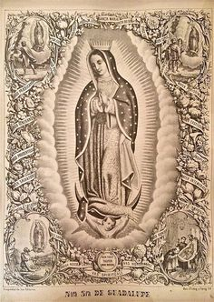 Nuestra Señora de Guadalupe by SanJuditasFolkArt on Etsy More