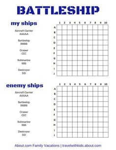 Battleships Game  LearningenglishEsl  Travel