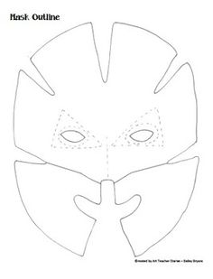 Mask Project Unit Art Lesson Plan with Handouts for Middle School Mask Design Paper Mache Mask, Paper Mask, Cardboard Mask, Cardboard Crafts, Gato Origami, Costume Venitien, Handout, Circle Crafts, 6th Grade Art