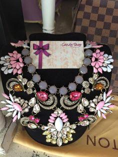 necklace vintage pink
