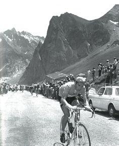 Eddy Merckx dans le Tourmalet, 1969 Vintage Cycles, Vintage Racing, Velo Retro, Paris Roubaix, Bike Poster, Bike Photo, Cycling Art, Bike Art, Veils