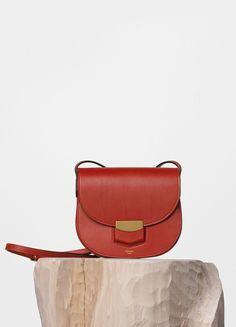 Seau Sangle Shoulder Bag in Tawny Supersoft Calfskin - C��line | My ...