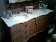 Photo On Empire Rosette Vanity for master bath from RH