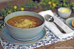 PANELATERAPIA - Blog de Culinária, Gastronomia e Receitas: Sopa de Legumes da Tati Chili, Good Food, Cooking, Healthy, Ethnic Recipes, Pernil, Tasty Food Recipes, Fruit Salsa, Stewed Potatoes