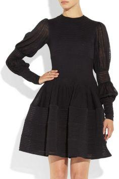 Alexander McQueen|Knitted silk dress|I would wear as a sheath with long skirt