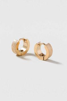 Stainless Steel Glitter Hoop - Jewellery - Bags & Accessories - Topshop