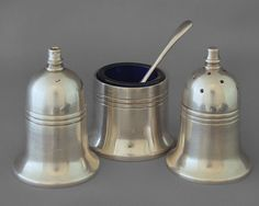 Mappin & Webb Silver plate cruet set & pot with spoon, FREE post UK | eBay