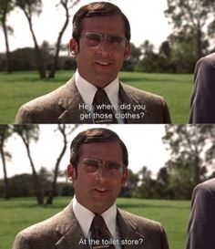 Anchorman hahaha :') Brick you kill me, you really do. Tv Quotes, Movie Quotes, Funny Quotes, Funny Movies, Good Movies, Anchorman Movie, Anchorman Quotes, Best Comebacks Ever, Loud Laugh