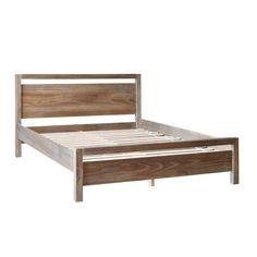 Shop Grain Wood Furniture Loft Solid Wood Queen-size Panel Platform Bed - Ships To Canada - Overstock - 10528617