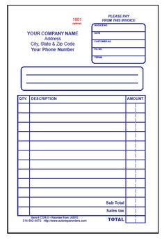 Awesome Blank ...  Printable Receipt Book