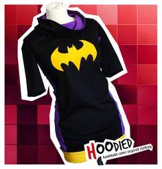 STEPHANIE BROWN batgirl overhead dress/tunic     via HOODIED on Etsy