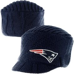 '47 Brand New England Patriots Ladies Carrien Knit Visor Hat - Navy Blue