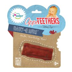 So funny! Great for meat-loving parents :) - Baby-Q Rib AppeTEETHERS - Little Toader