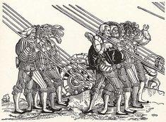 Artist: Stör, Niklas, Title: Soldatenzug, Fünftes Sechstel: Zehn Knechte, Date: 1st half of the 16th century