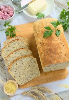 Chleb z kaszą jaglaną (nocny) Bread Recipes, Bakery, Good Food, Food And Drink, Cooking, Healthy, Ethnic Recipes, Projects, Diet